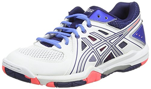 Asics Gel-task, Damen Volleyballschuhe, Weiß (white/powder Blue/flash Coral 0147), 40 EU