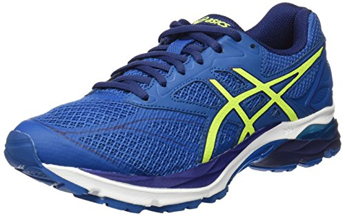 Asics Herren Gel-Pulse 8 Laufschuhe, Blau (Thunder Blue/Safety Yellow/Indigo Blue), 45 EU