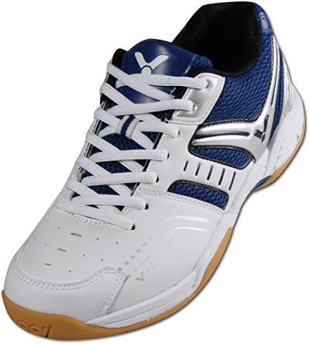 VICTOR V-300 Indoor Sportschuh / Badmintonschuh / Hallenschuh, Blau/Weiß, Größe 44