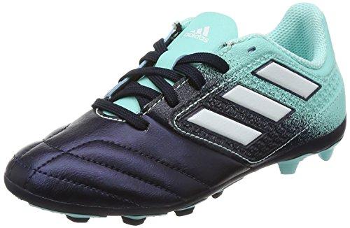 adidas Jungen Ace 17.4 Fxg J Futsalschuhe, Weiss/Gelb/Schwarz, Mehrfarbig (Energy Aqua /ftwr White/legend Ink ), 38 EU