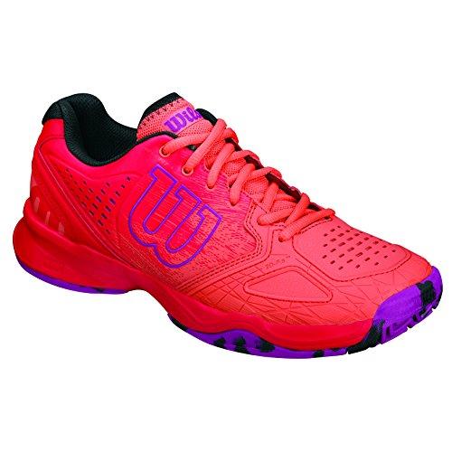 Wilson Damen Kaos Comp W Radiant.R/Coral Punc/PK Tennisschuhe, Mehrfarbig (Radiant Red X166), 41 1/3 EU