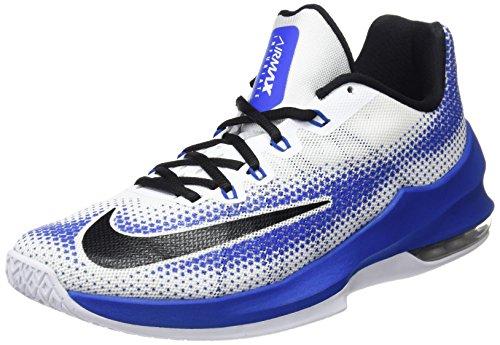 Nike Herren Air Max Infuriate Low Basketballschuhe, Mehrfarbig (White/Black/Varsity Royal), 44 EU