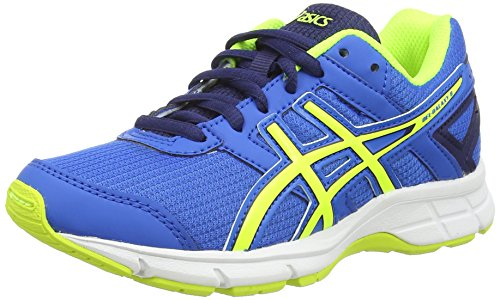 Asics Gel-galaxy 8 Gs, Unisex-Kinder Laufschuhe, Blau (electric Blue/flash Yellow/ind 3907), 34.5 EU