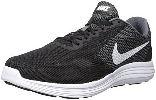 Nike Herren Revolution Laufschuhe, Schwarz (Dark Grey/White-Black 001), 44 EU