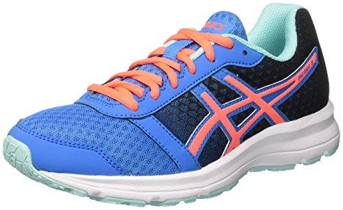 Asics  Patriot 8,  Damen Laufschuhe für das Training auf der Straße, Mehrfarbig (Diva Blue/Flash Coral/Aqua Splash), 40 EU