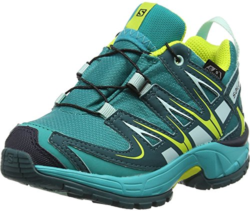Salomon Kinder XA Pro 3D CSWP, Synthetik/Textil, Trailrunning/Outdoor-Schuhe, Blau, Gr. 30