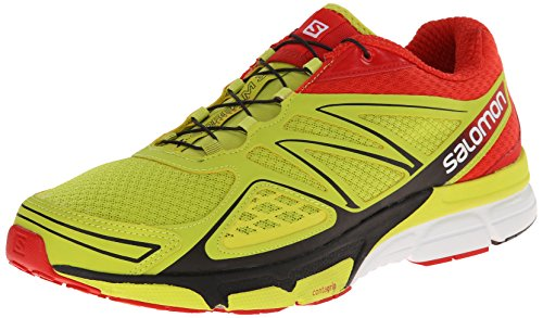 Salomon X-Scream 3D, Herren Traillaufschuhe, Gelb (Gecko Green/Bright Red/Black), 40 2/3 EU (7 Herren UK)