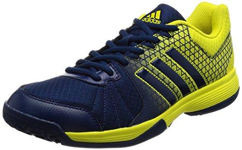 adidas Unisex-Erwachsene Ligra 4 Volleyballschuhe, Blau (Mystery Blue/Mystery Blue/Bright Yellow), 38 2/3 EU