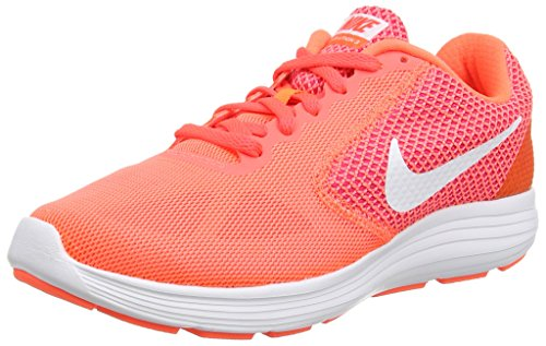 Nike Revolution 3, Damen Laufschuhe, Orange (Hyper Orange/White-Atomic Pink-Bright), 42 EU (7.5 Damen UK)