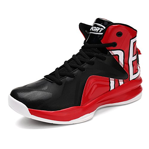 ASHION Herren Outdoor Sportschuhe Profi-Basketball-Schuhe (39 EU, Rot)